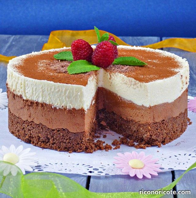 Tarta mousse doble chocolate