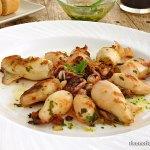 Calamares a la plancha con salsa verde