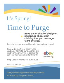 designer clothing and accessories flyer