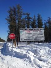 6. Fort Chipewan winter road