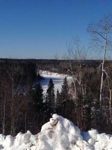8. Frozen Firebag river