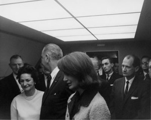 Texas Congressman Albert Thomas Winks to LBJ
