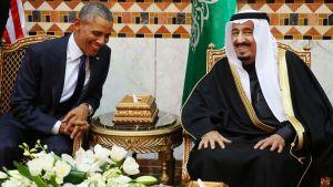 Obama meets with King Salman in Riyadh (Reuters)