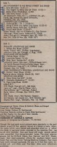 Great Jug Bands: lp credits