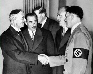 Neville Chamberlain & Adolf Hitler