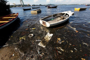 Trash and Sewage of Guanabara Bay