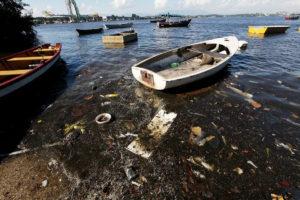 Trash and Sewage of Guanabara Bay