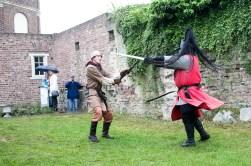 Ridder Maarten en ridder Danny in gevecht