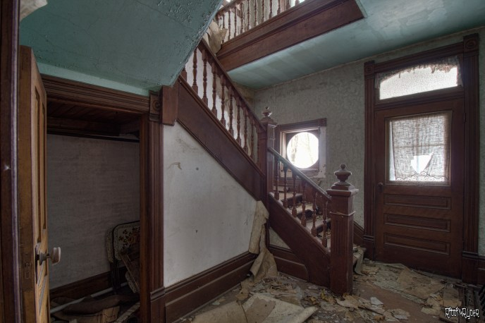Amazing staircase in abandoned house