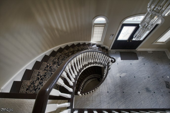 Epic staircase in an abandoned mansion