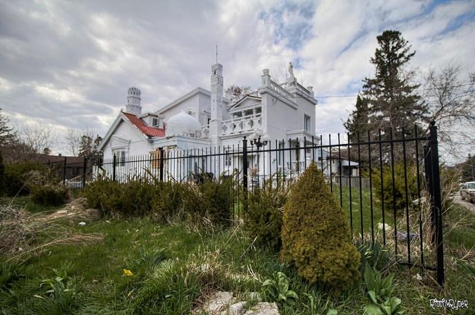 Outside the abandoneed castle