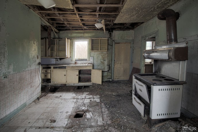 Decayed kitchen
