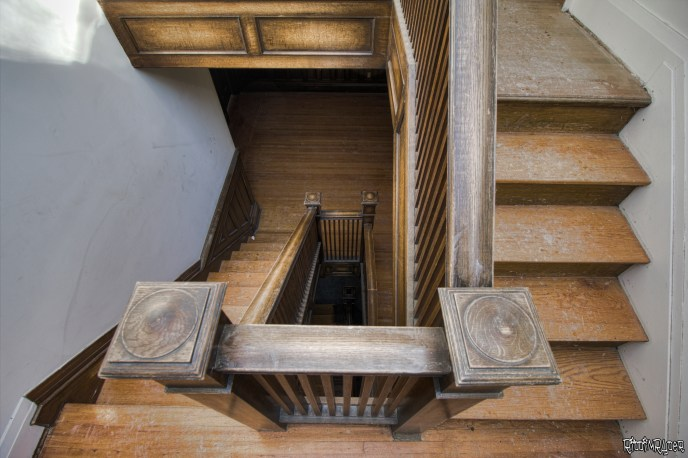 abandoned mansion stairs