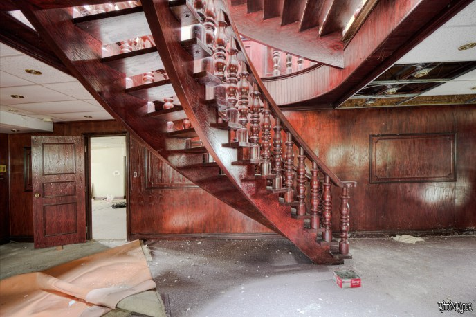 Epic stairs in an abandoned mansion