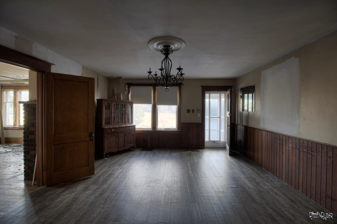 Dining room in the Abandoned Farmhouse