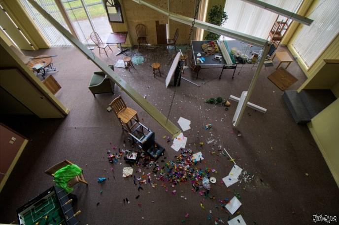 abandoned ontario recreation room
