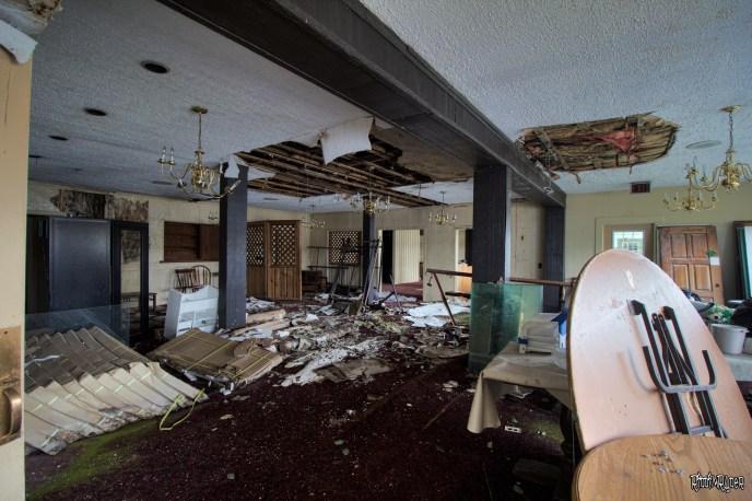 abandoned restaurant