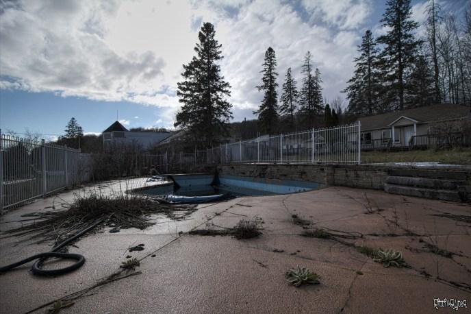Resort abandoned outdoor ool