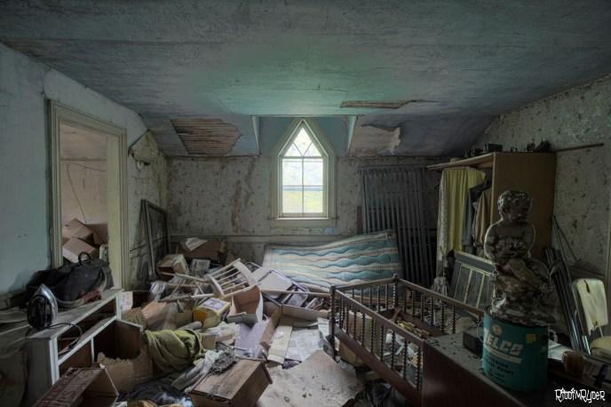 Abandoned house upstairs