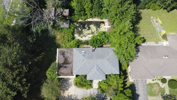 Arial view of the abandoned house