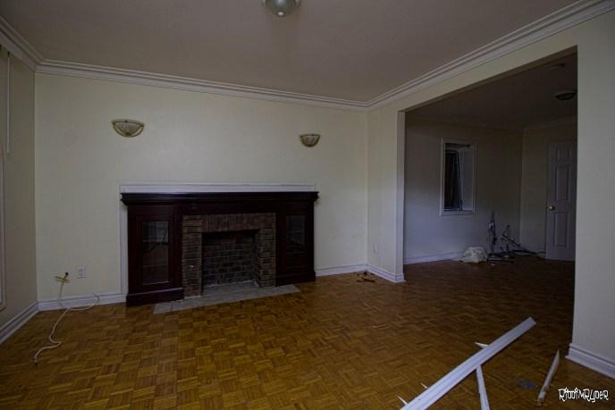 Abandoned House FIreplace