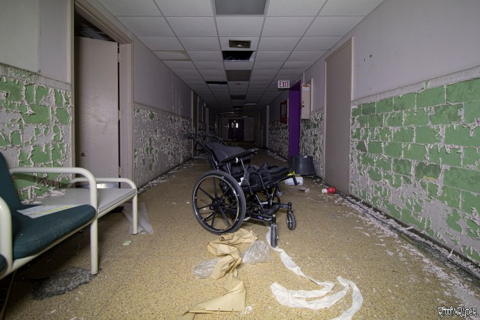 Creepy abandoned wheelchair