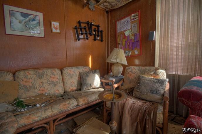 Abandoned Cabin Living Room