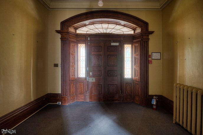 Abandoned 1830s Mansion Front Door