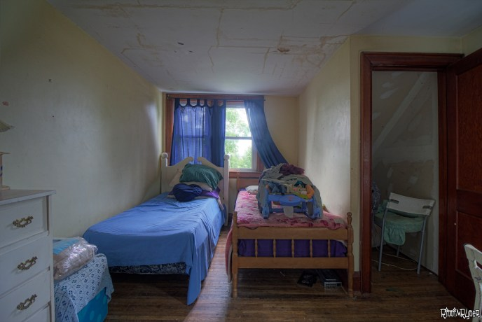 Bedroom Inside the Abandoned House