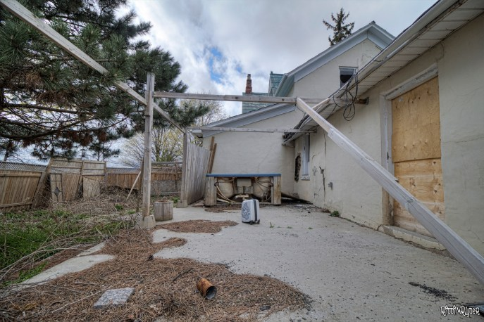 Backyard of the House