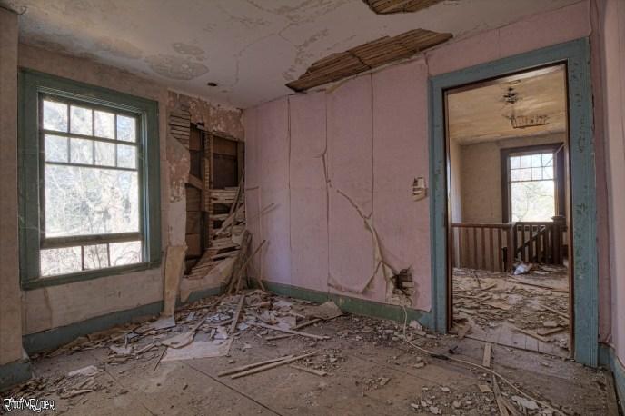Bedroom inside an Abandoned House