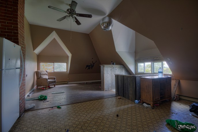 Third floor of the abandoned homestead
