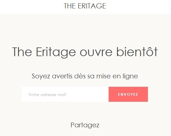 The Eritage : Capture d'écran de la Boutique en Ligne