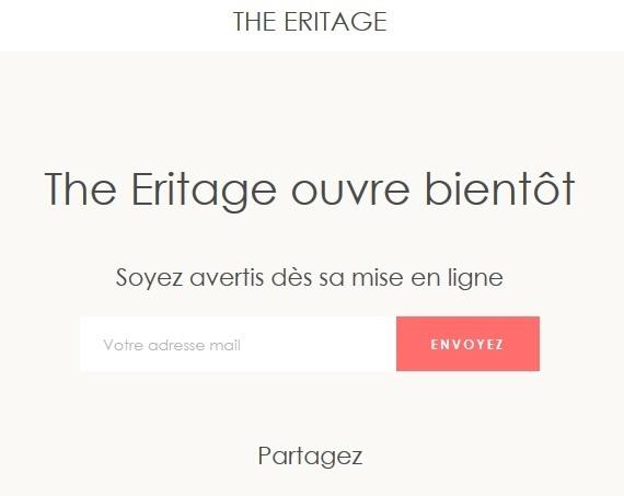 The Eritage : Capture d'écran de la Boutique en Ligne