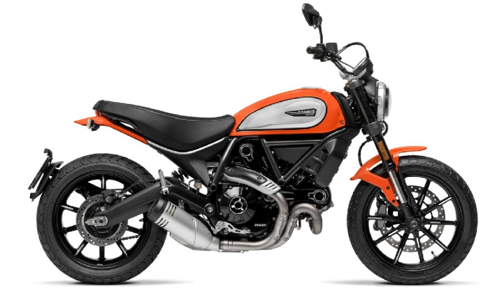 Une superbe moto Ducati 800 en version Scrambler