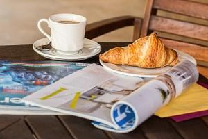 Espace Presse : quelques magazines au petit-déjeuner