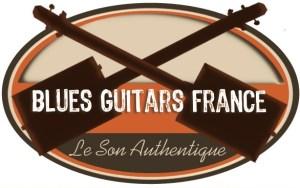 Cigar Box Guitars made in France : Logo Blues Guitars France