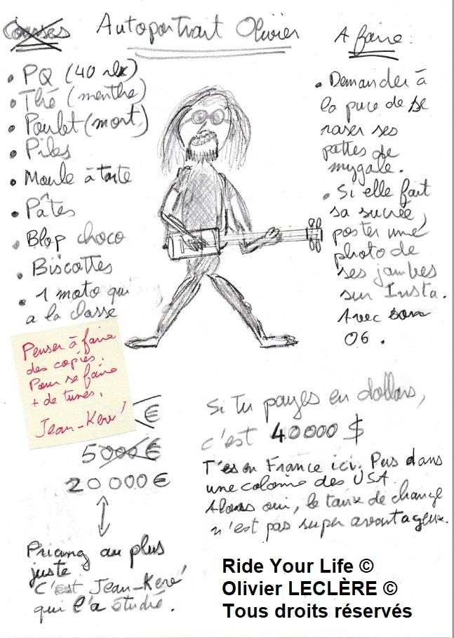 Soutien aux Artistes : Autoportrait d'Olivier Leclère