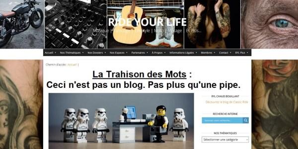 L'Aveu : Ride Your Life n'est pas un blog