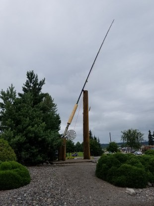The world's largest fly fishing rod.