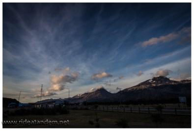 Abreisemorgen, mehr kann man im südlichem Patagonien vom Wetter kaum erwarten