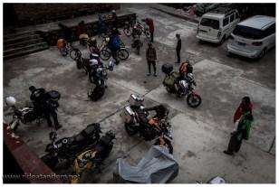 Unsere Unterkunft, ein Treffpunkt für Lhasa-Reisende auf 2 Rädern.