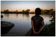 Wir campen etwa 30m vom Ufer des Adelaide River. Der Guide sagt es wäre kein Problem, soweit kommen die nicht aus dem Wasser, zuviel Aufwand und zuviel Futter im Fluss.
