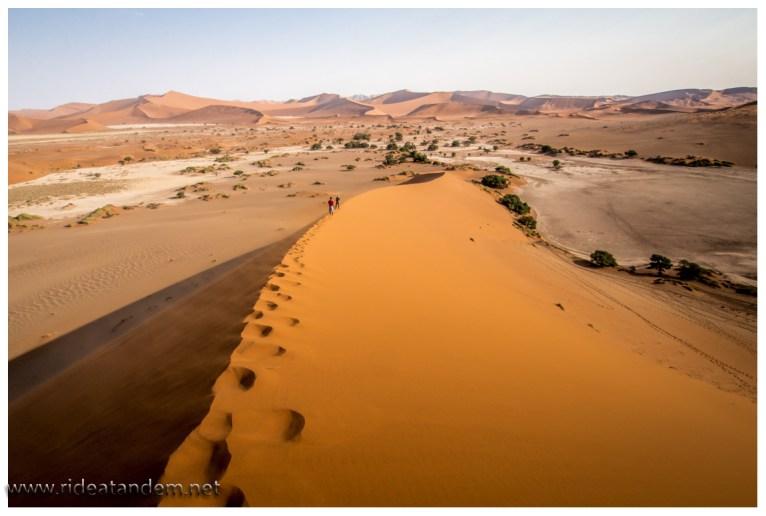 Irgendwie fühlen wir uns immer wieder an die Wüste erinnert, tolle Landschaft