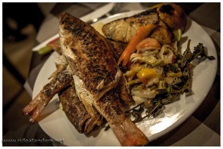 Am Ende ein berg Fische auf dem Teller, eigentlich hätte lecker Brot und Butter als Zutat gereicht.