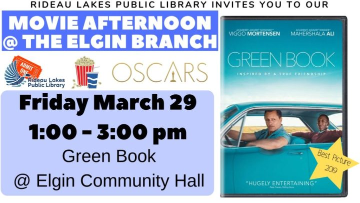 Movie afternoon at Elgin Branch showing Green Book Friday March 29 2019.