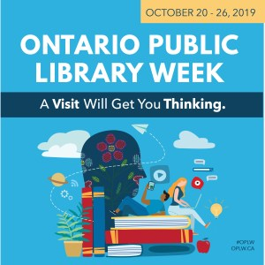 Promotional image for Ontario Public Library week, October 20-26 2019
