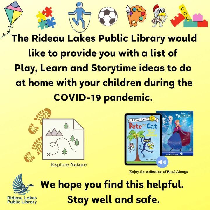 List of Play, Learn & Storytime ideas