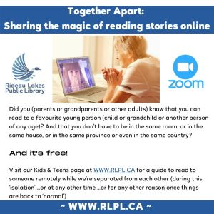 Together Apart : Sharing the magic of reading stories online