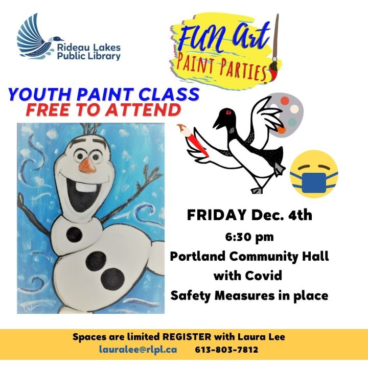Free Youth Paint Workshop
